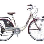 Cinzia 26″ LIBERTY LADY 6B Steel Frame Cream/Burgundy